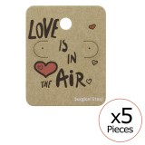 Love Is In The Air Ear Stud Cards - Paper Steel Jewelry Sets SD34096
