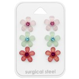 Flower - 316L Surgical Grade Stainless Steel Steel Jewelry Sets SD29090