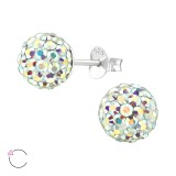 Ball - 925 Sterling Silver Swarovski Studs SD39037