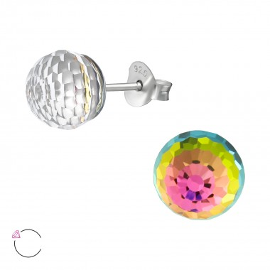 Disco Ball - 925 Sterling Silver Swarovski Studs SD39773