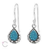 Tear Drop - 925 Sterling Silver Swarovski Earrings SD24399