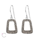 Trapezoid - 925 Sterling Silver Swarovski Earrings SD24643