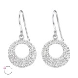 Circle - 925 Sterling Silver Swarovski Earrings SD24644