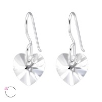 Heart - 925 Sterling Silver Swarovski Earrings SD27941