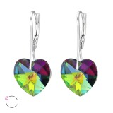Heart - 925 Sterling Silver Swarovski Earrings SD30651