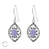 Antique - 925 Sterling Silver Swarovski Earrings SD34638