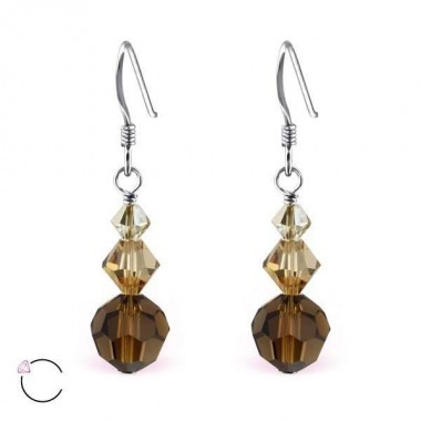 Dangle drops - 925 Sterling Silver Swarovski Earrings SD3796