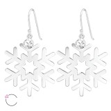 Snowflake - 925 Sterling Silver Swarovski Earrings SD39210