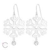 Snowflake - 925 Sterling Silver Swarovski Earrings SD39212
