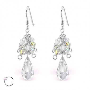 Swarovski - 925 Sterling Silver Swarovski Earrings SD8573