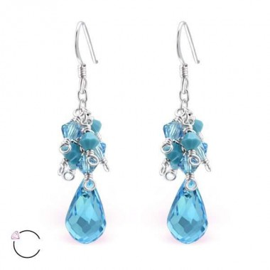 Swarovski - 925 Sterling Silver Swarovski Earrings SD8574