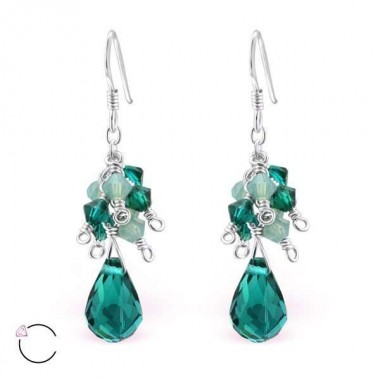 Swarovski - 925 Sterling Silver Swarovski Earrings SD8575