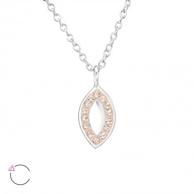 Marquise Mirror - 925 Sterling Silver Swarovski Necklaces  SD30718