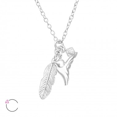 Bird And Feather - 925 Ster...