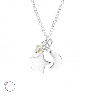 Star And Moon - 925 Sterlin...