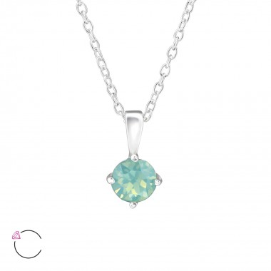 Round - 925 Sterling Silver Swarovski Necklaces  SD34039
