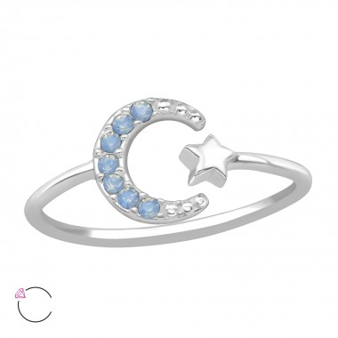Moon & Star - 925 Sterling Silver Rings SD39441