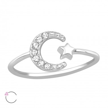 Moon & Star - 925 Sterling Silver Rings SD39442